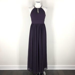 Levkoff S 6 Dress Plum Purple Formal Gown Maxi